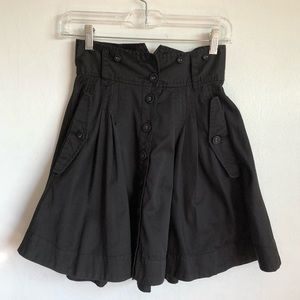 French Connection Cotton Pleated Full Mini Skirt 2